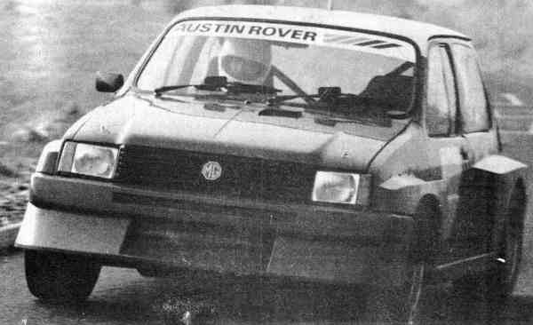 The initial versions of the 6R4 looked almost tame compared with the final, definitive version: As can be seen in this picture, the February 1984 version was based, cosmetically, around the original Metro. The front air dam and sidepods would grow significantly and the rear spoiler had yet to make an appearance. Here, Tony Pond is at the wheel – and he would perform the majority of the test and development driving.