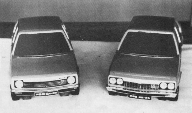 Michelotti styling treatments for short- and long-nose versions of the P82...