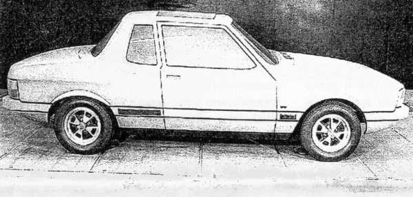 "Cassarchis' coupe mock-up. Picture: ""P82 Status report"", by Barry Anderson and Reg Fulford, Sep 1974, and supplied by Merve Sheather."