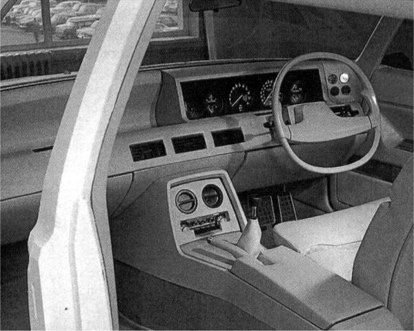 Rover P8 interior