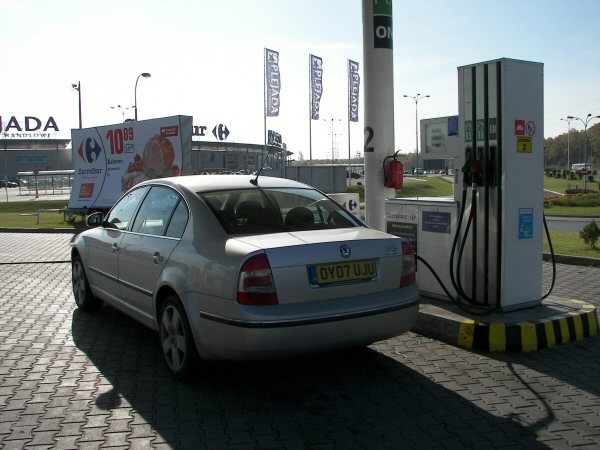 Filling up is agreeably cheap in Poland.