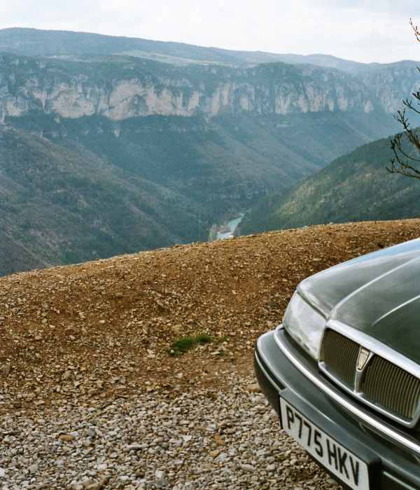 Rover 800 meets the Gorge du Tarn: Although the Coupe didn't totally tame it, the car held upto the test the roads presented with its held held high