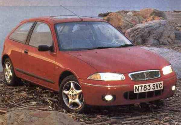 The finished article: At launch the 200 was the first all-British mass market Rover in over a decade: unlike the previous one – the Austin Montego – there was little to criticise the styling of the new car for. This version was the top of the range 200Vi, although you would never know by looking at it.