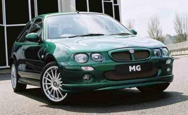 "The MG ZR is an attempt to pick up where the 200 BRM left off – and maybe is the car that it should have been. The body shape is unmodified compared with its sister, the Rover 25, but the lowered stance, large wheels and Peter Stevens tweaked styling certainly give it a degree of ""toughness"" always lacking in the original."
