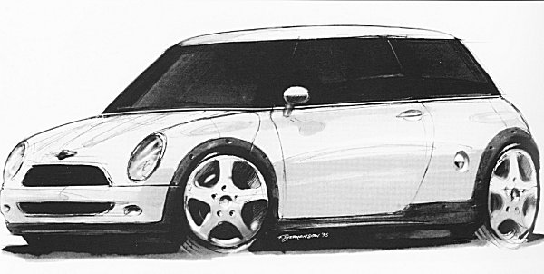 Frank Stephenson sketch for a new Mini... concept to reality didn't change overtly.