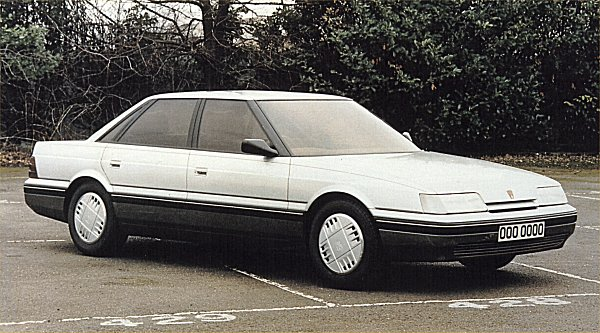 DEV 3 prototype produced following the convergence of the XX and HX programmes in the early months of 1983. This design would amount to the definitive Rover 800, aside from a small change in dimensions.