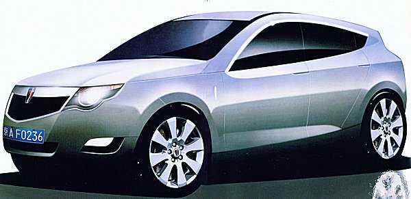 One of several new design proposals presented to SAIC in Easter 2005, and revealed by Autocar - the  styling had been updated to move with the times, but Chinese representatives were said to have been  unhappy with the existing styling proposals.