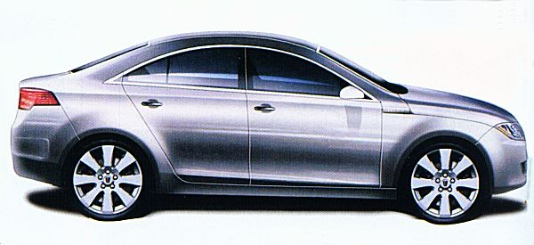 The Chinese favoured saloons, so this proposal was drawn up to satisfy far-Eastern demand for three-box cars. Based on the same wheelbase as the RDX60, it would be a compact package, aimed at the Volkswagen Vento/Jetta...