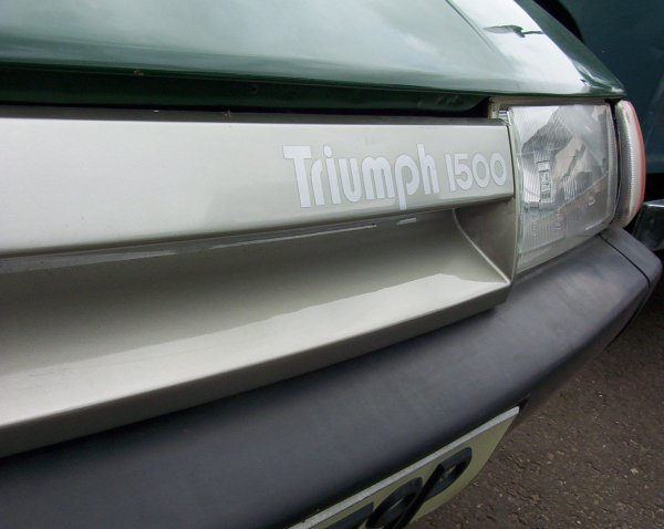 Bold Triumph badging for the new car, even though it was a Specialist Division effort, and it may say '1500', but its actually a 2.0-litre...