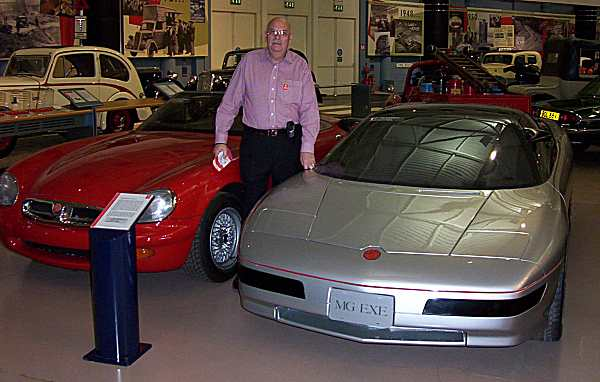 Roy Axe with his prototypes back in 2004