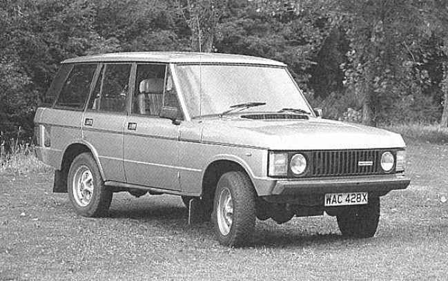 Testing the water: Land Rover watched with interest the world's reaction to the Monteverdi five-door conversion, which showed that the Range Rover's style would not suffer unduly by the addition of two extra doors.