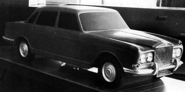 "The Bengal formed the basis for a Rolls-Royce version of the car, the Rangoon. Externally, the two would have differed only in details such as the radiator grille and chromework, but as the above ""double-sided"" model reveals, some thought was given to an alternative front wing treatment. As with the Bengal, the ADO17/ADO61 origins are obvious. Had the Bengal and Rangoon reached production, the main differences between them would have been limited to the quality of the interior trim, with the Bentley being the less lavishly finished of the two."