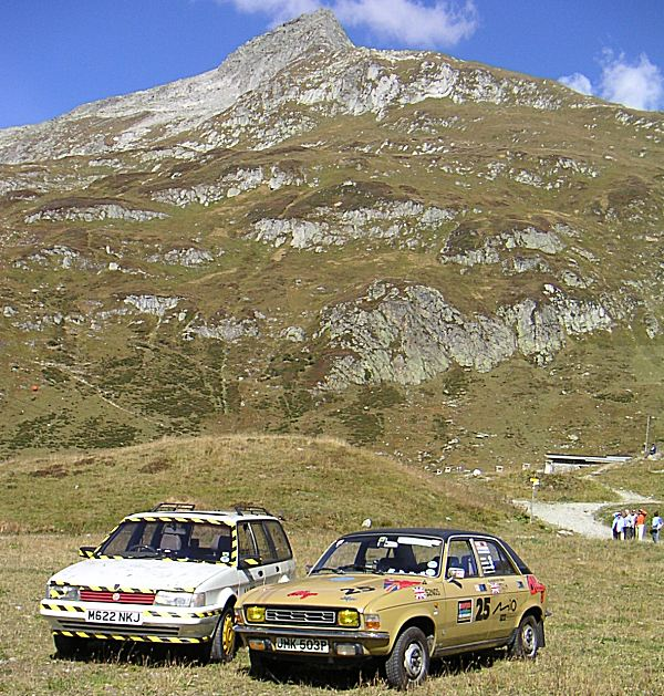 Brothers in arms: Tony Hague and Richard Smith of the Maestro and Montego Owners Club kept a watching brief and kept us company in the Mountainous Swiss stage of the event...