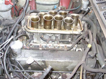 Plenum removed, the eight air inlet trumpets make for a fantastic sight