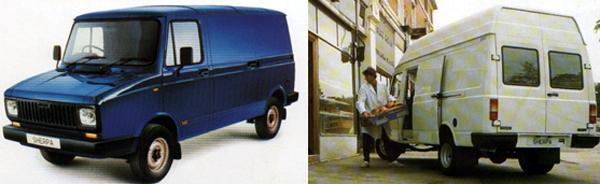 Coming of age: with the 200 series (left) and 300 series (right) models, the Sherpa gained a new lease of life; these models are still being built by LDV, in somewhat modified form, as the Pilot and Convoy respectively.