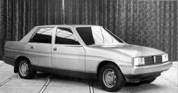 Purely speculative computer image of how the TM1 saloon may have looked when considering the description of the car detailed below. The Triumph TM1 would have been pure SD2. Given the way the styling scheme for the car has been devised, it may have proven difficult for the Morris version to have looked vastly differeent from the Triumph variant.