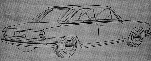 This sketch by Michelotti was intended as a proposal for the Herald - However, the beginnings of the Triumph 2000 can clearly be seen in its lines. When the lines are right, stick with the concept - and Harry Webster did just that, seeing that the design theme made it into production in 1963.
