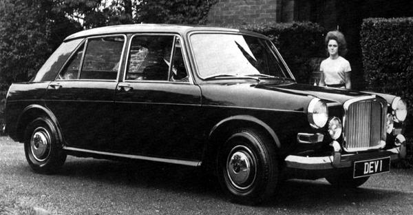 The definitive Vanden Plas Princess 1100 prototype, this is the car which BMC displayed at the 1963 Motor Show. At the time, its purpose was simply to demonstrate the capabilities of Kingsbury workforce, but such was the level of order enquiries received at the show that the company had little option but to manufacture the car. Few changes were made in the transition to the production model, although this car clearly lacks the wraparound rear bumper and rakish rear over riders. Also, its two-tone colour scheme (in this case, Sherwood Green over Dark Green) would be seen on very few production models, which were predominantly finished in one colour.