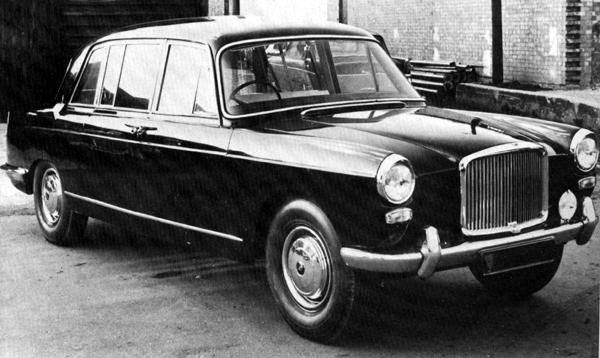 "Vanden Plas produced this experimental limousine based on the Princess 3-litre saloon. Although it has an undeniable elegance, at the time it would have been regarded as having far less road presence than the full-size Princess DM4 Limousine. This car also provides an interesting comparison with the Lancia Flaminia State Limousine (one of six produced by Pininfarina for the British royal visit to Italy in 1961) especially as it was the Lancia Flaminia that had originally set the style for the BMC Farinas. For British customers, however, the day of the ""stretch limo"" had yet to come..."