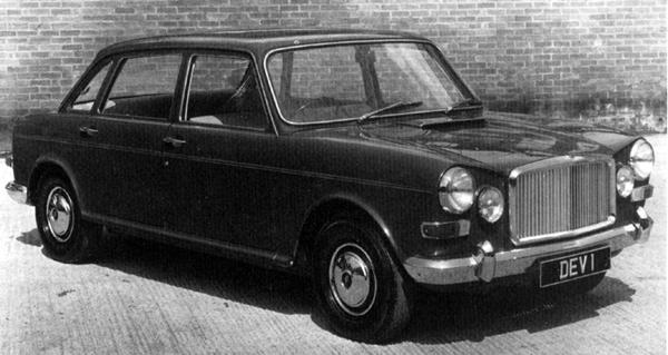This early attempt at producing a Vanden Plas 1800 used the standard ADO17 bodyshell as its basis. Note that the boot line has been extended, while the frontal treatment is somewhat redolent of the Triumph Vitesse.