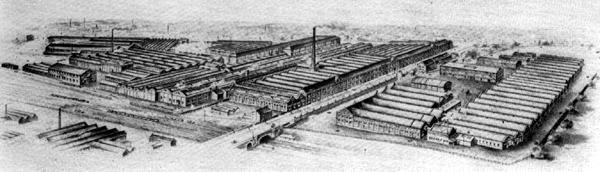 Wolseley's Adderley Park factory, covering some 21 acres following its expansion in 1913.