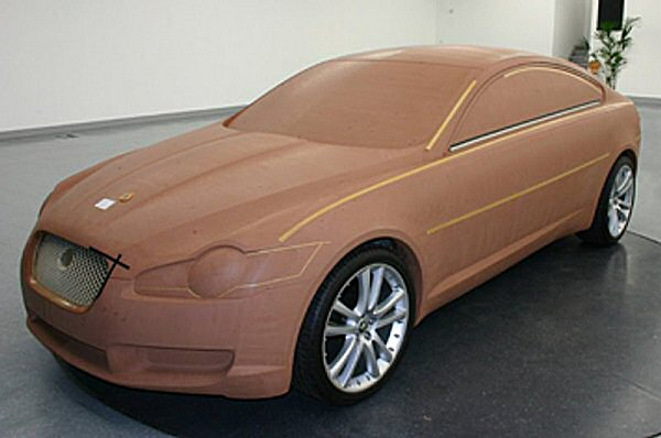 The definitive XF design being created in clay...