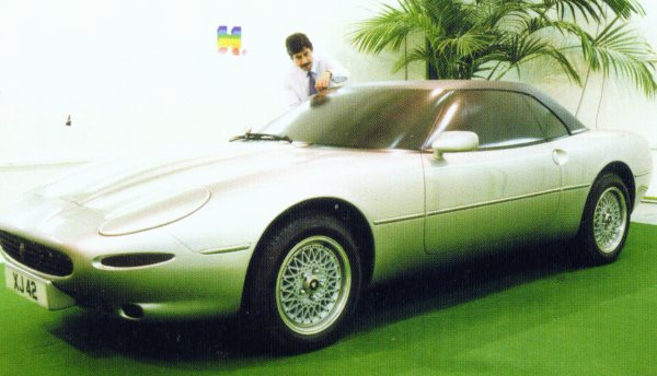 Jaguar's Keith Helfet with an early clay of the XJ42 drophead - the overall style remained pretty much unchanged from these early stages to the project's cancellation in 1990