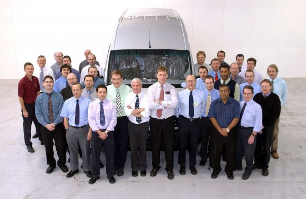 The engineering design team that launched the Maxus back in Aug 2004 - next to LDV Maxus VIN #1