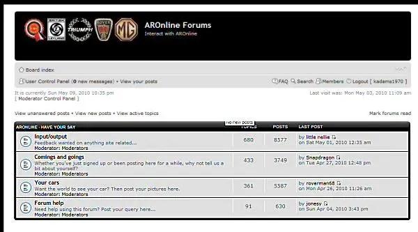 AROnline forum