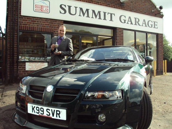 John Newey of Summit Garage with his XPart competition-winning MG SV-R