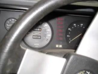 The original 80mph federal speedometer shows just 712 original miles