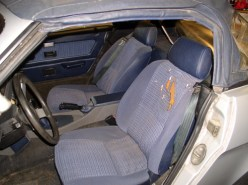 The drivers seat with its rare 1981-only ruched velour upholstery sadly did not survive storage