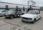 Rover P6 heads up a classic selection of cars on the Beaujolais Run