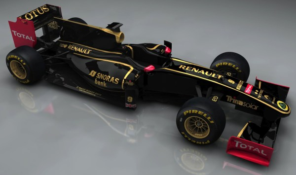 The Lotus Group's F1 car for 2011: running under the Lotus Renault GP banner