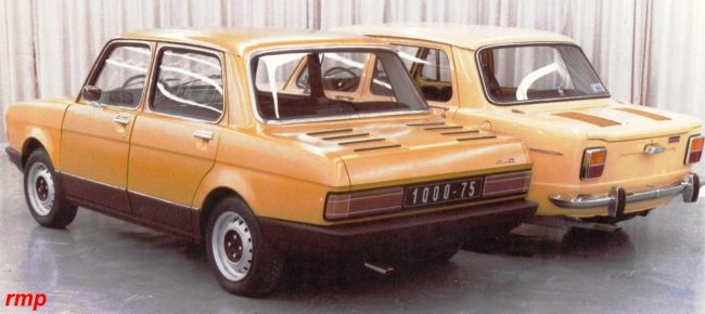 In 1976, and in an attempt to prove that there was life in the old dog, Simca looked at revising the 1000. This proposal would have introduced a more grown up front- and rear-end design treatment, with the centre section being left as it is. As it was, the proposal was shelved…