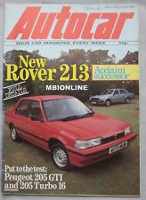 Autocar really rated the Rover 213 when it tested it in June 1984.