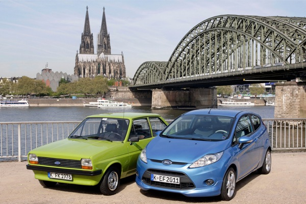Ford Fiestas old and new...