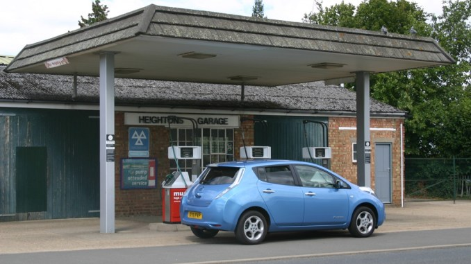 Nissan Leaf not being filled up with fossil fuels, yesterday...