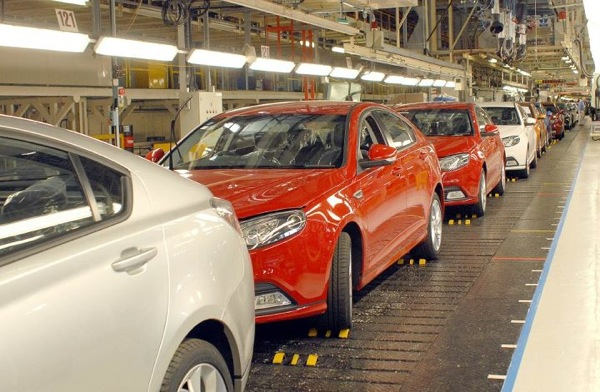 MG6 assembly in Longbridge