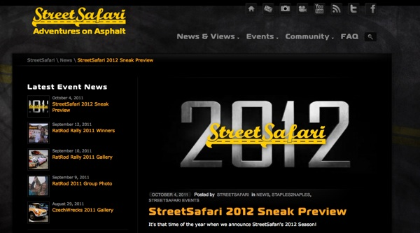 Visit StreetSafari's new website to sign-up for S2N 2012