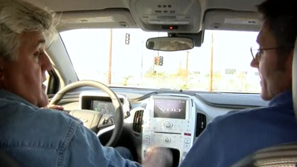 Leno driving a prototype Volt back in 2009