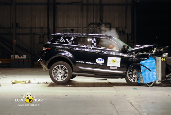 Range Rover Evoque is officially an NCAP five-star car