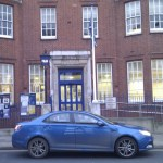 MG6 makes it to Heckfied Place police station in Fulham. You might recognise this from the end titles of Minder.