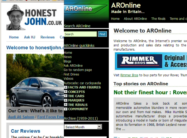 AROnline has joined forces with Honest John to create an unrivalled new, used and classic car portal...