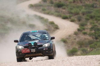 Steve Blunt may take the lead today. He's doing well, and while his Impreza has 4WD, it's not a turbo version