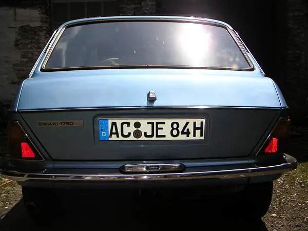 Historic plate legitimises Maxi's 'classic' status in Germany.