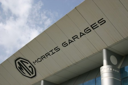 Morris Garages - interesting branding, and at least in touch with MG's heritage