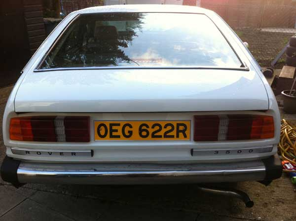 Rear plate now firmly affixed. Looks better for being original 1970s spec.