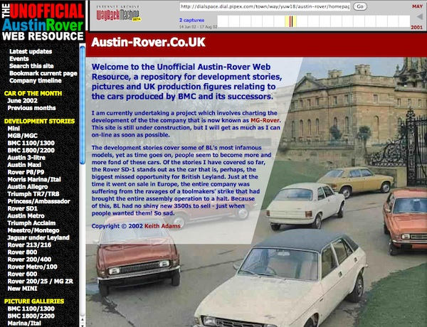 www.austin-rover.co.uk from April 2002