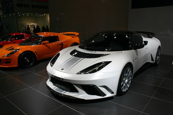 The Lotus range was on display in Beijing, with the importer claiming it had already taken 180 orders since December 2011.